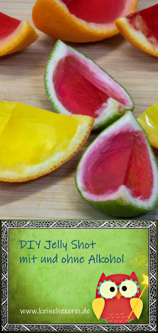 DIY Jelly Shot - mit Götterspeise gefüllte Orangenschalen | mit und ohne Alkohol #Party #JellyShot #Vodka #Nachtisch #fürErwachsene