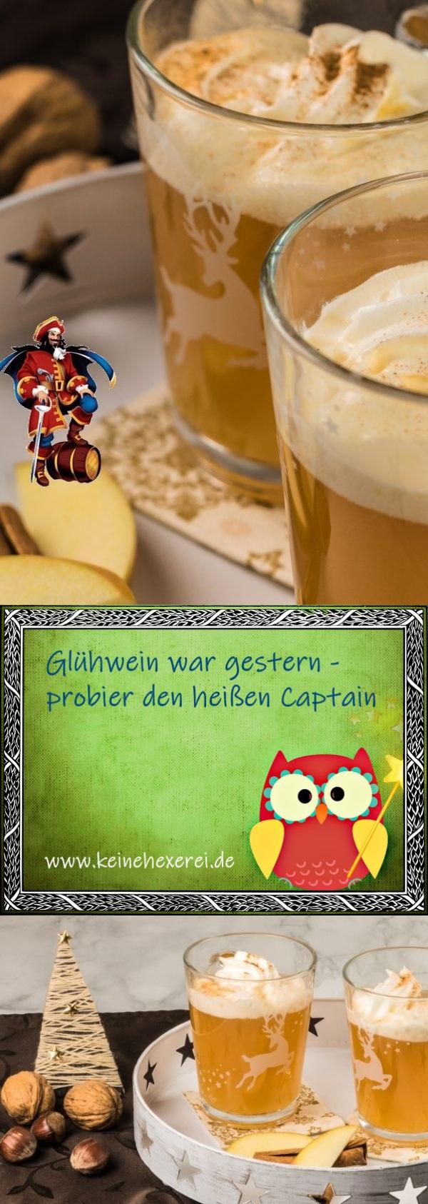 Heißer Captain - die würzig herbe Glühweinalternative, fruchtig und lecker #Rezept #Glühwein #HeißerCaptain #CaptainMorgan #Weihnachtsmarkt #Trendgetränk